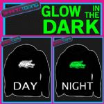 CROCODILE ADULTS & CHILDRENS GLOW IN THE DARK HOODIE HOODY